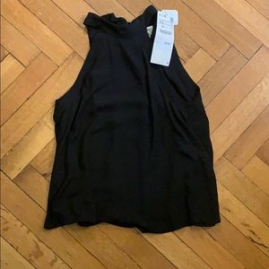 NWT - Zara - Black  high neck sleeveless blouse